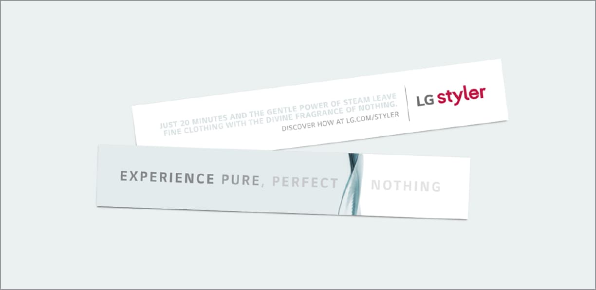 LG Styler experiential + print