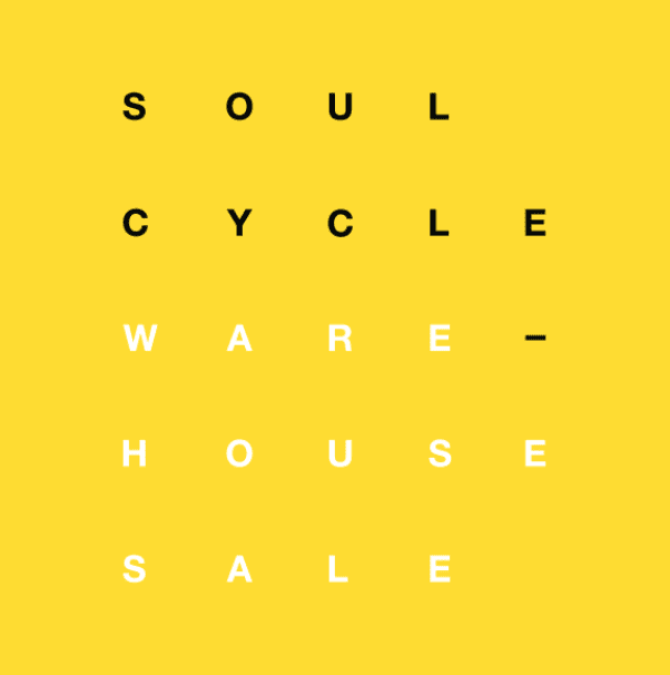 SoulCycle—Warehouse Sale
