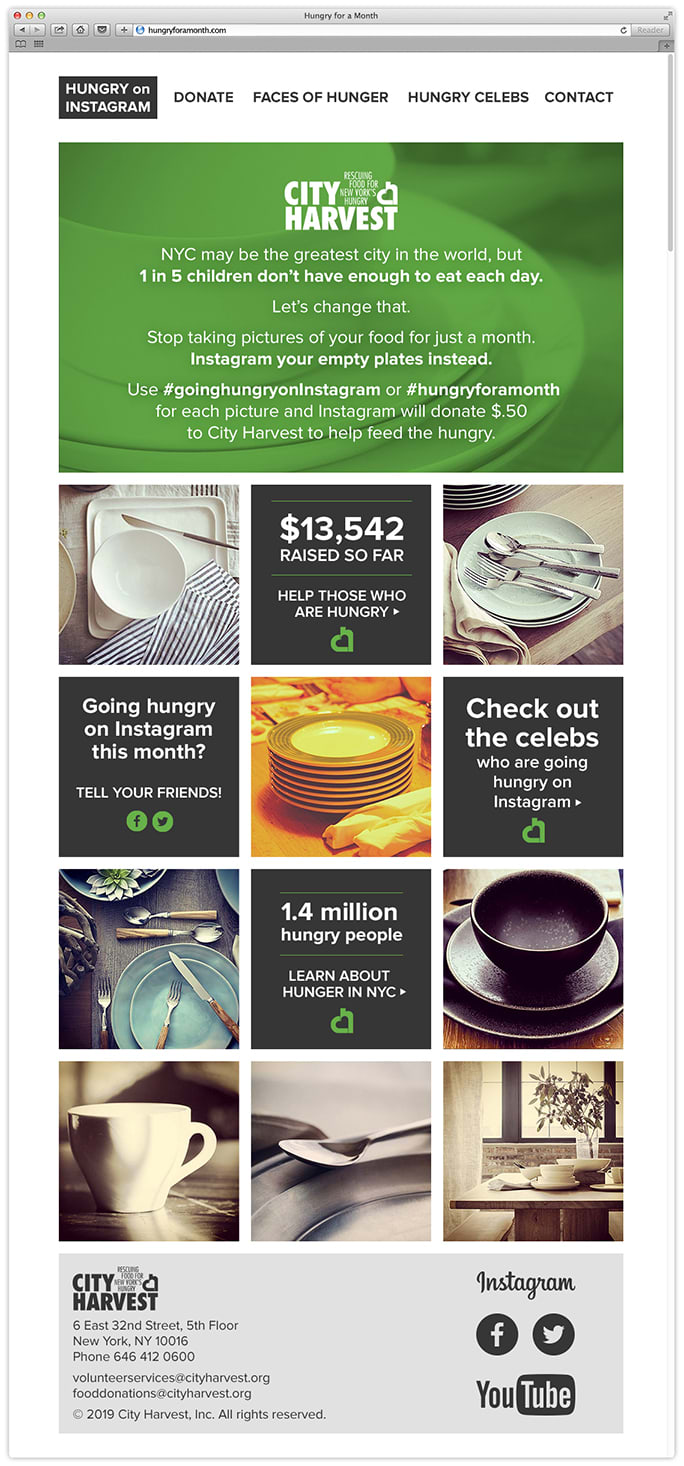 Instagram Campaign for City Harvest