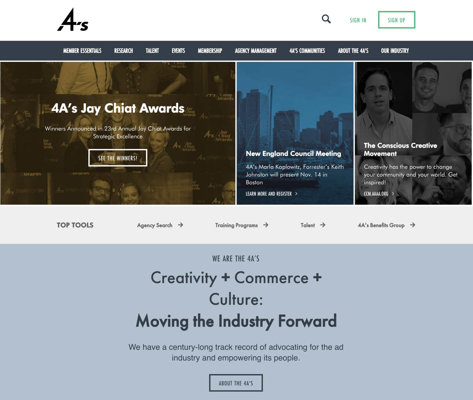 The American Association of Advertising Agencies Web Site Redesign & Integration