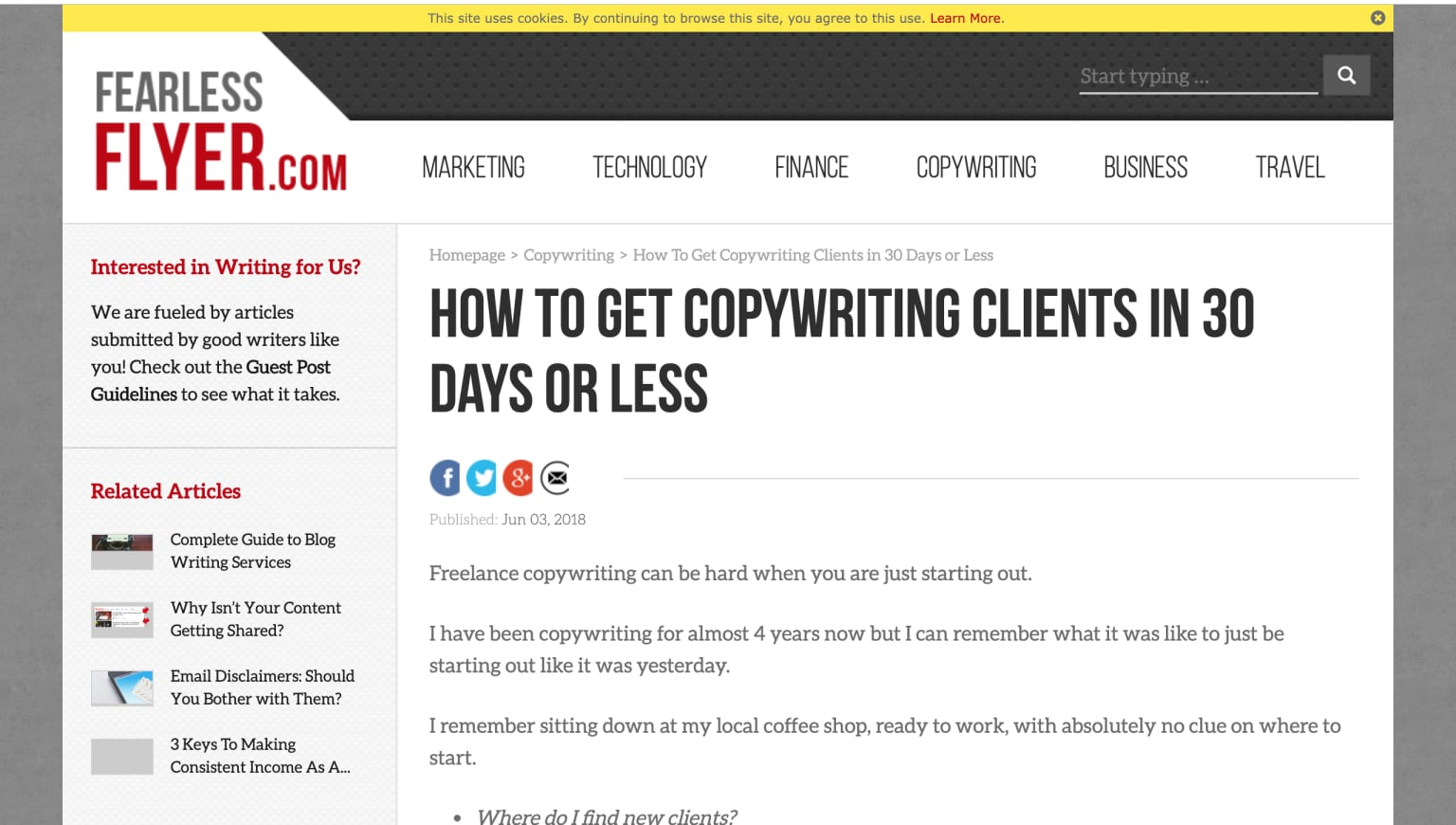 How To Get Copywriting Clients in 30 Days or Less