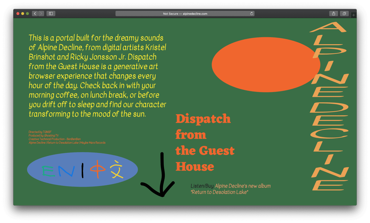 Alpine Decline - Dispatch from the Guest House