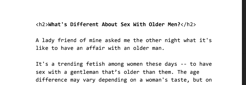 What's Different About S E X with Older Men?