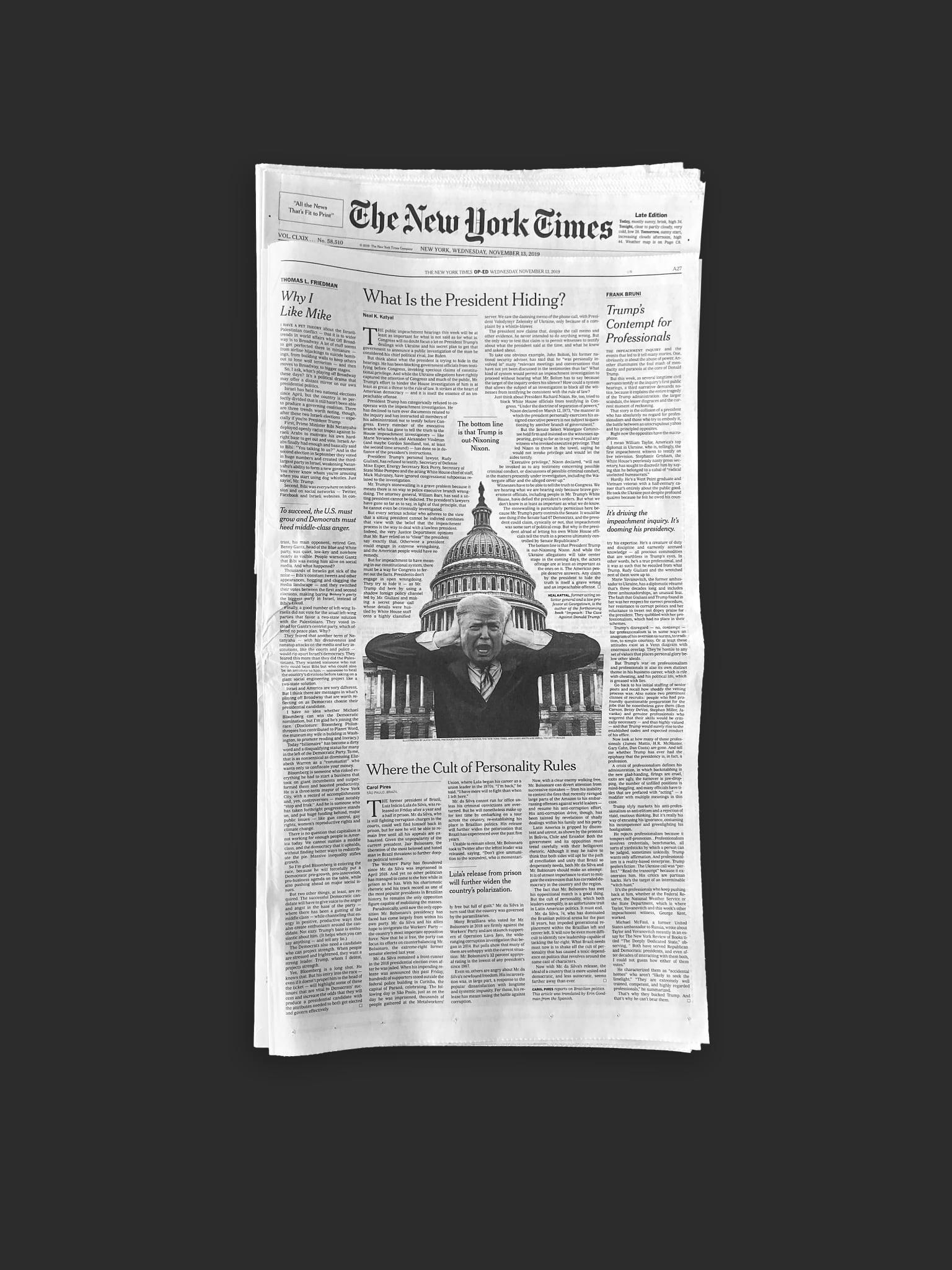 New York Times Op-Ed Illustration