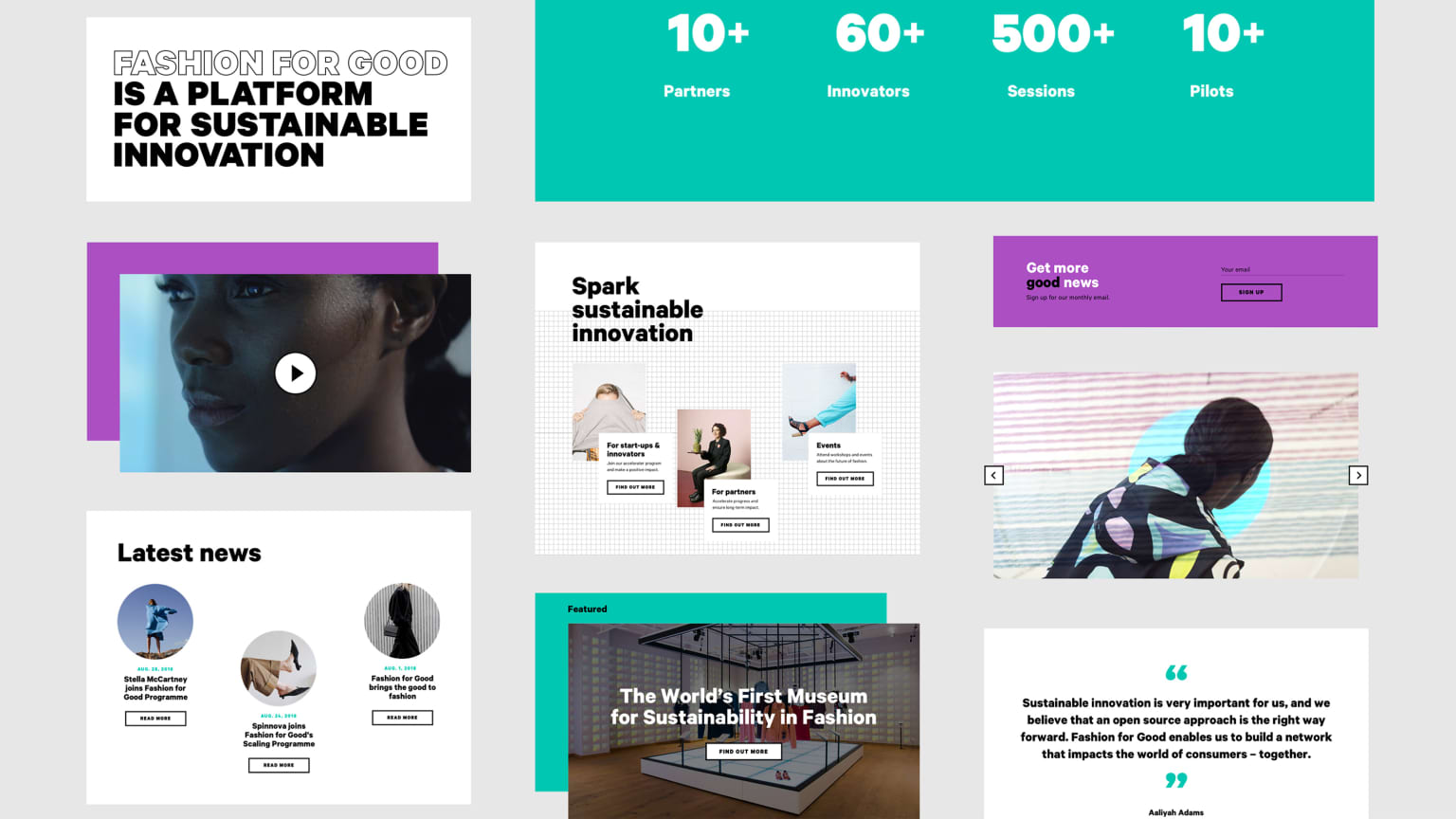 Fashion for Good - Website & museum tablet experience