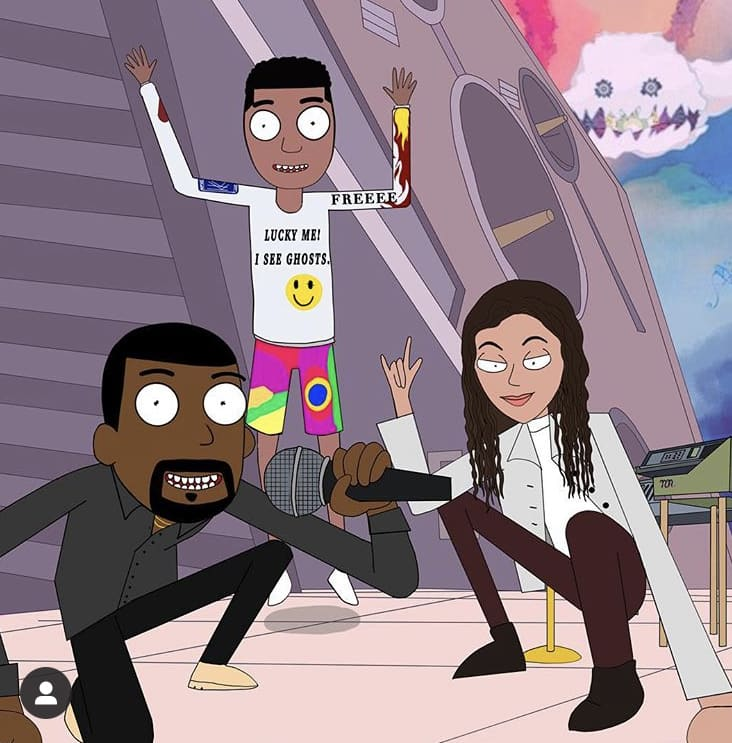 Kids see ghost art commission for Kanye West