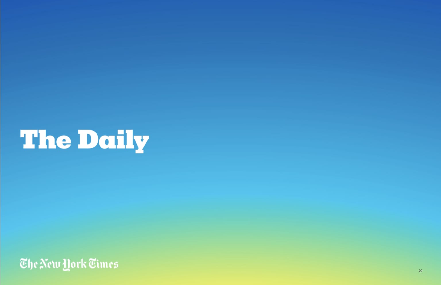 The Daily - New York Times