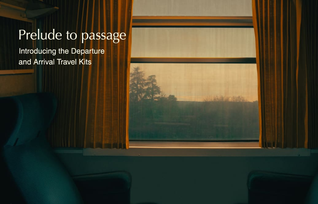 Prelude to passage | Aesop Travel Kits
