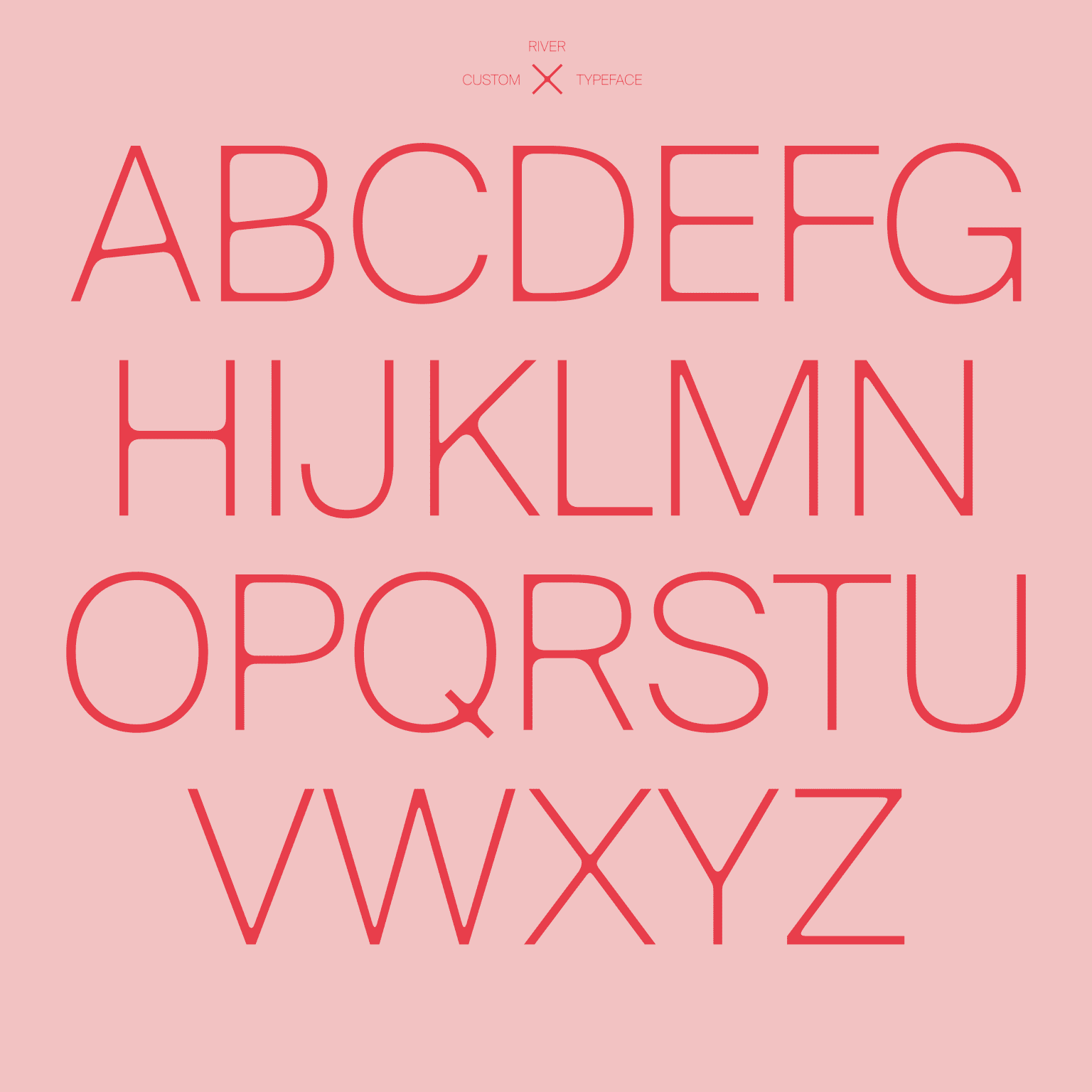 River Typeface