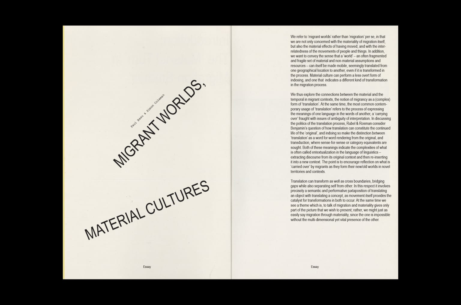 The Intersections of Migration and Material Culture