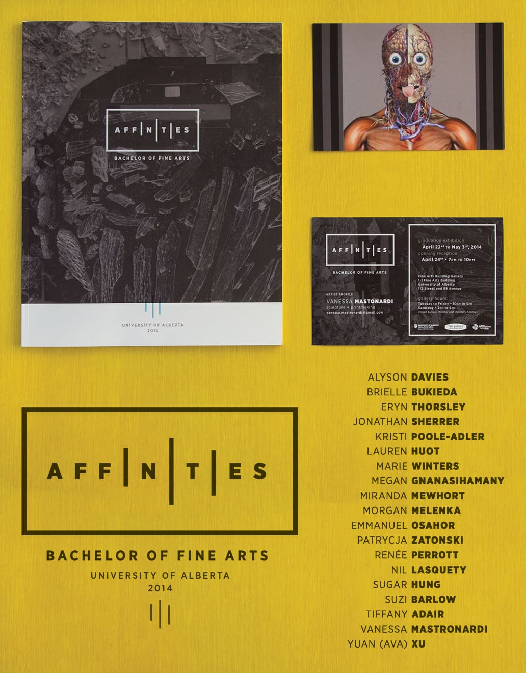Affinities U of A Graduation Catalogue and Identity Design