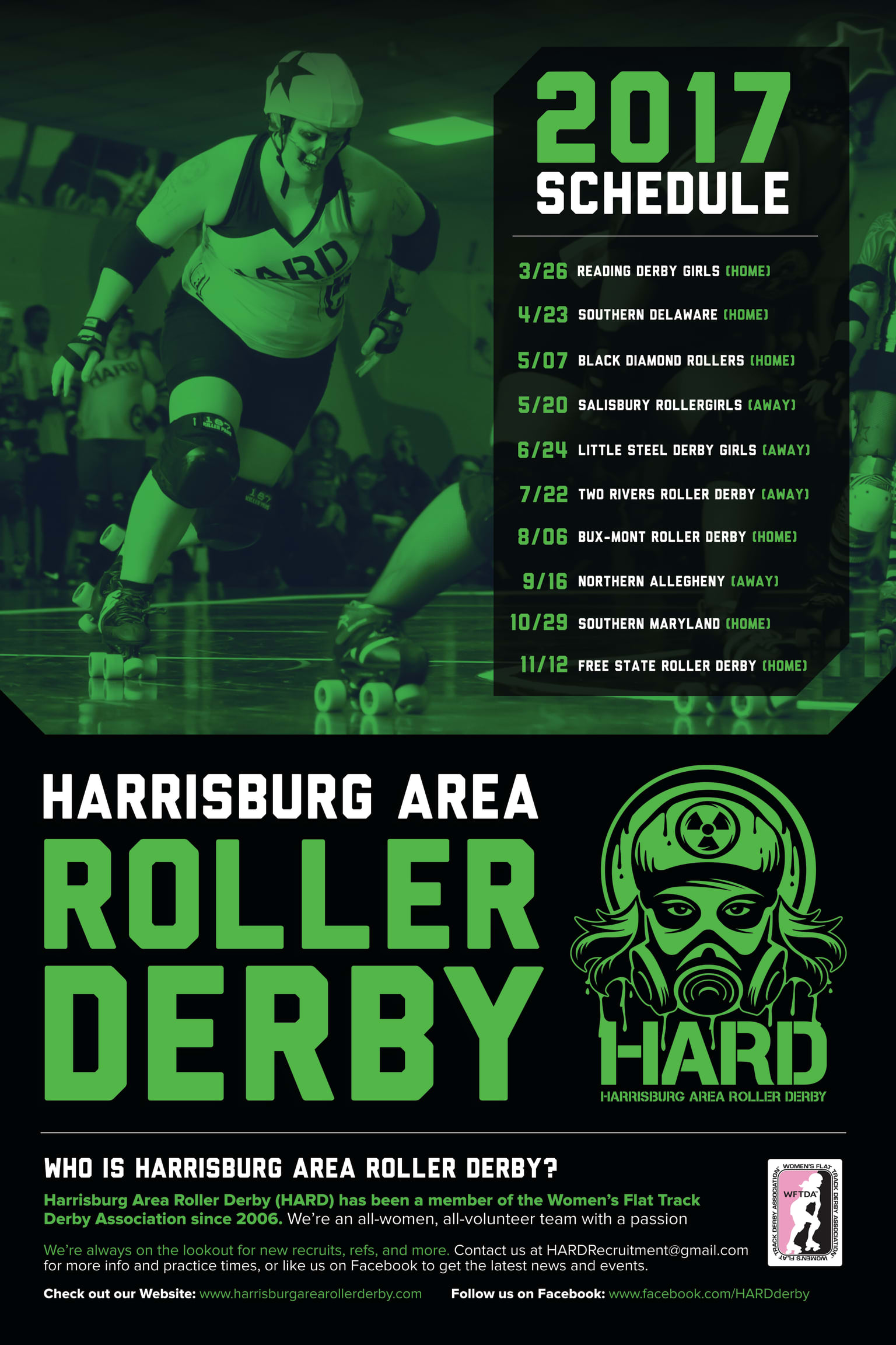 Harrisburg Area Roller Derby (HARD) 2017 Collateral