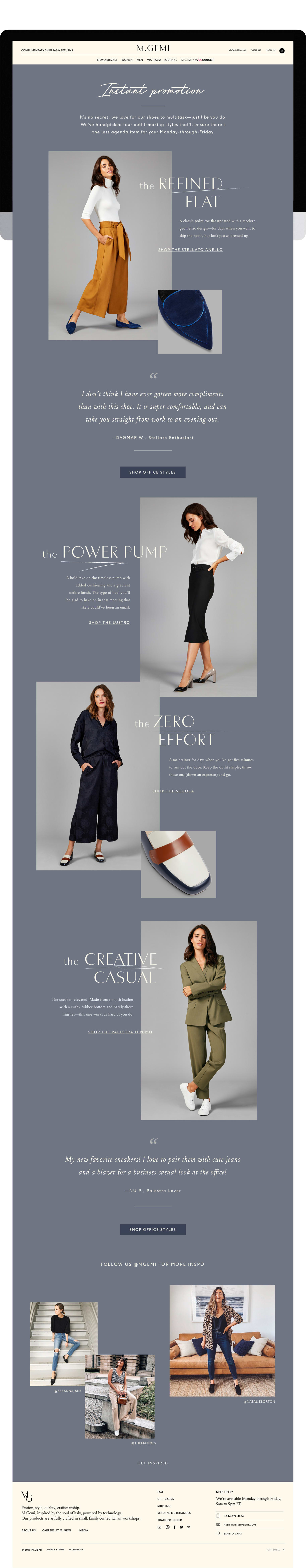 M.Gemi Wear to Work Landing Page and Email