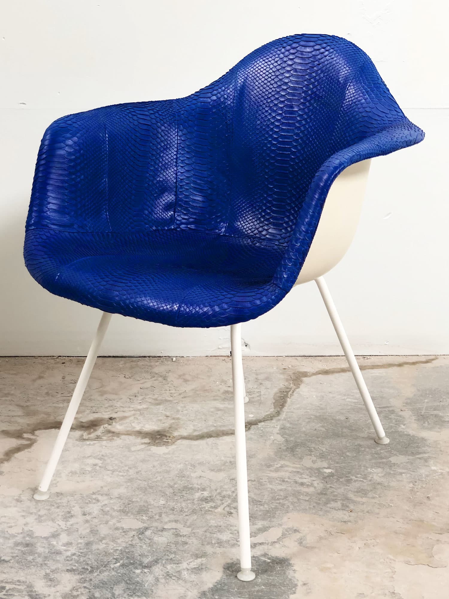 Python Leather Herman Miller Chairs