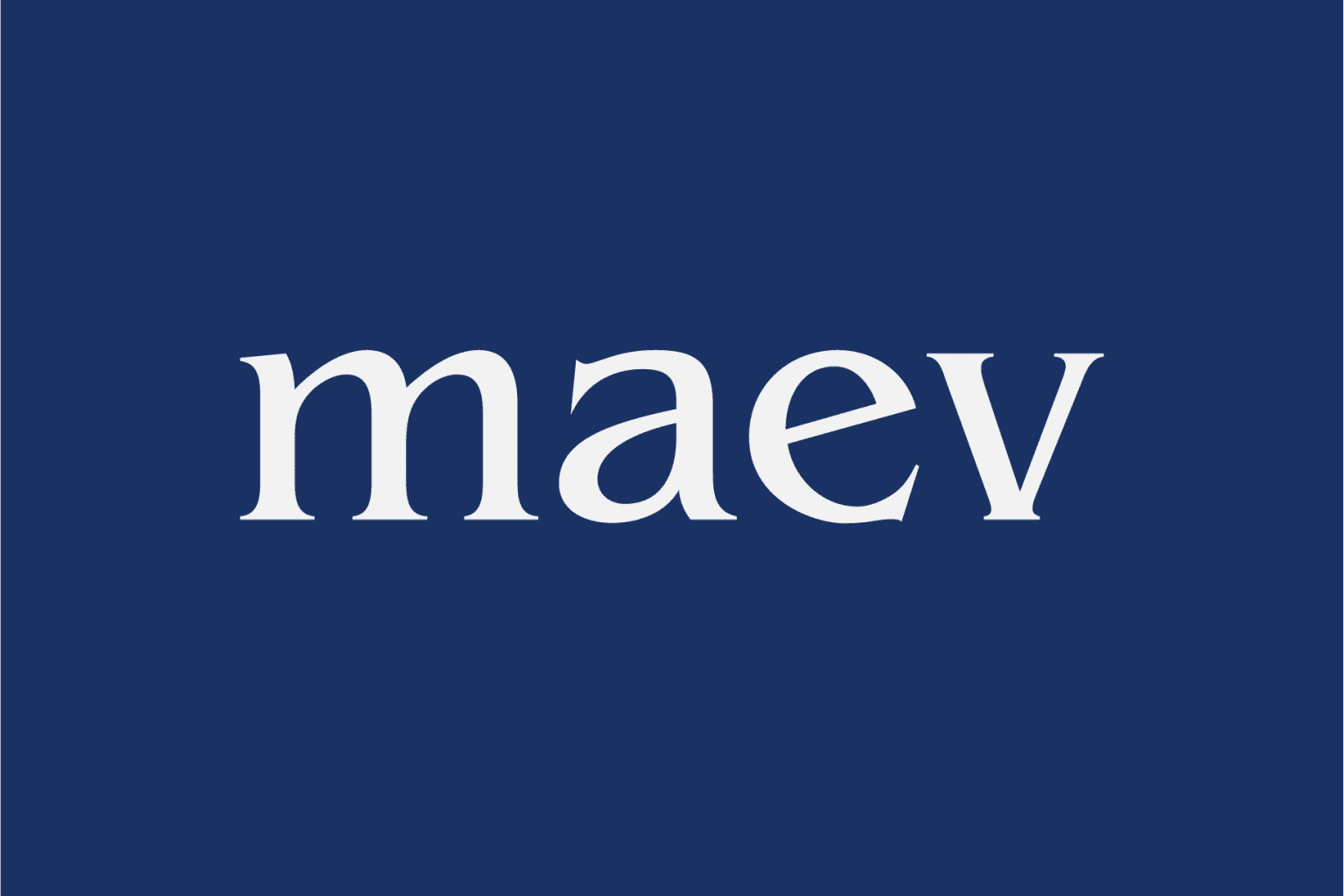 Maev Brand Identity and Packaging Design