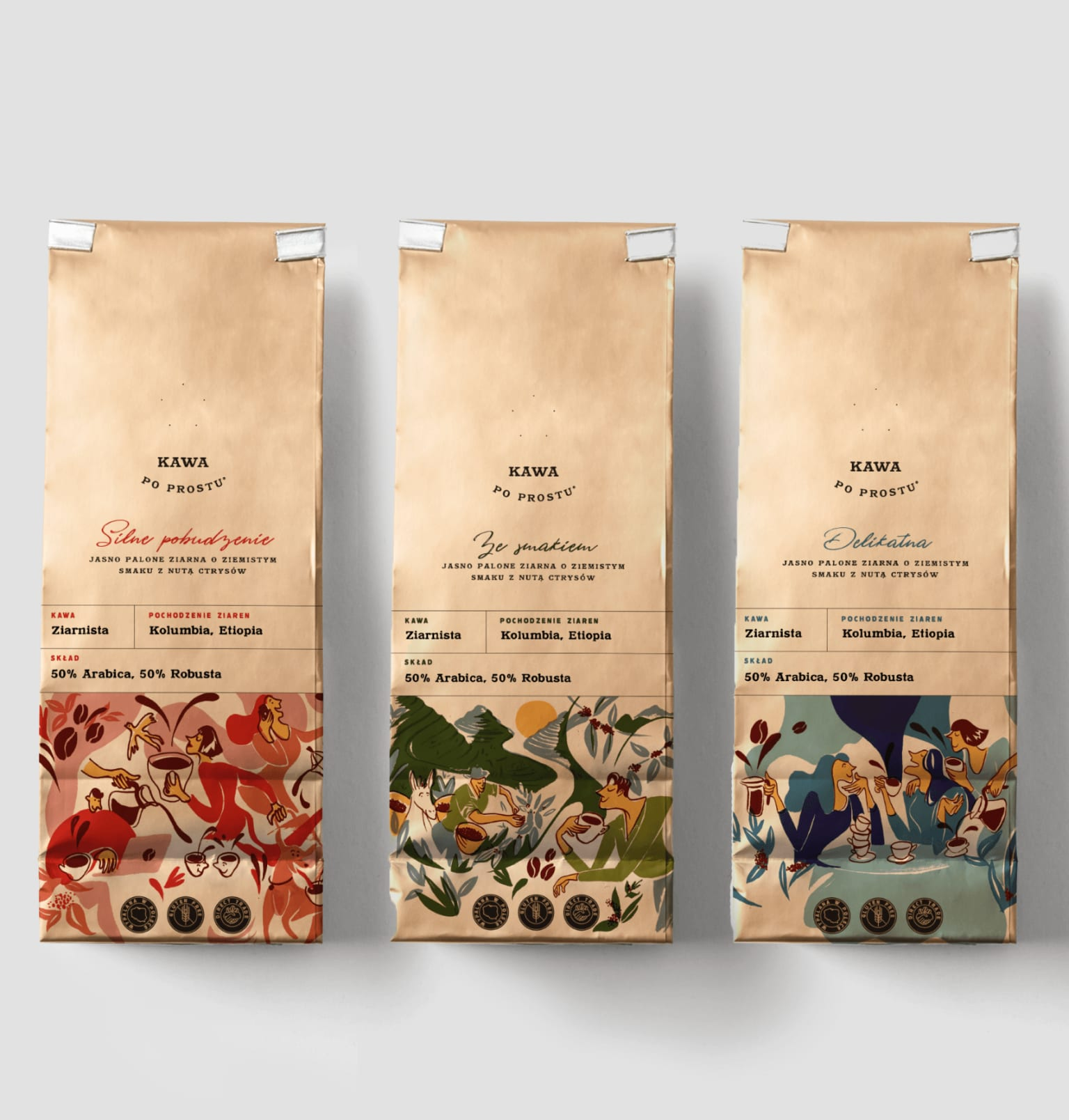 Coffee Packaging Illustrations