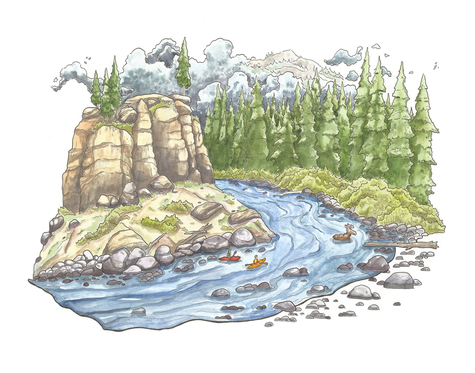Personal River Illustrations