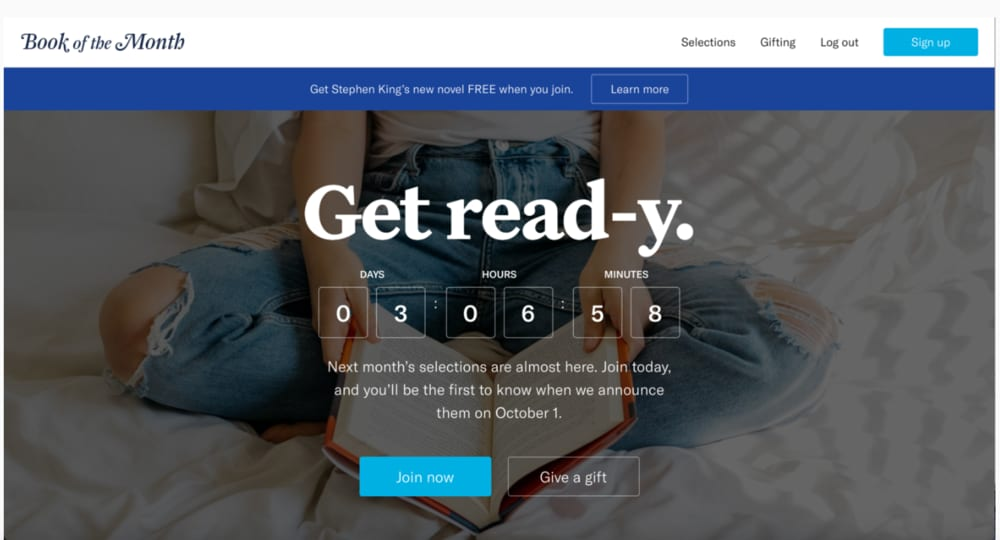 Revitalizing a book subscription