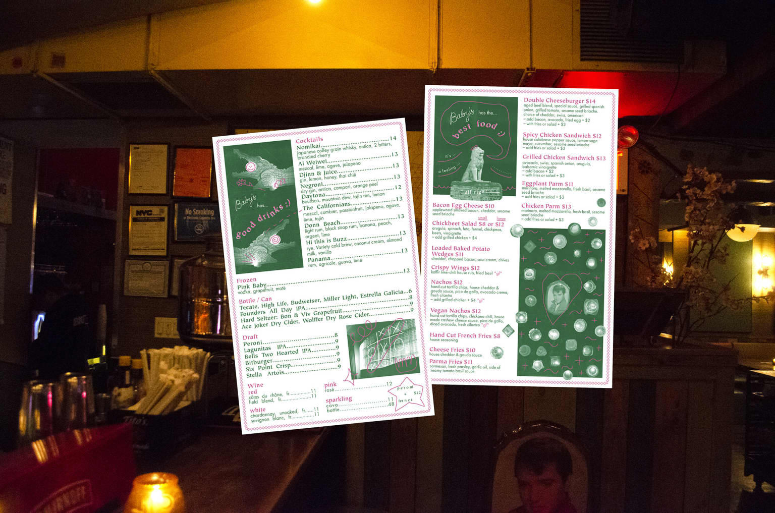 Baby's All Right Menus