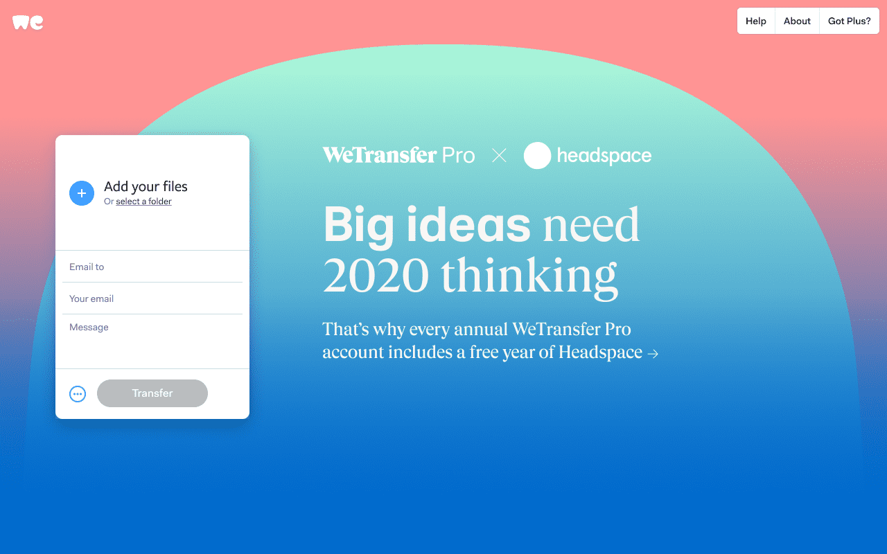WeTransfer x Headspace
