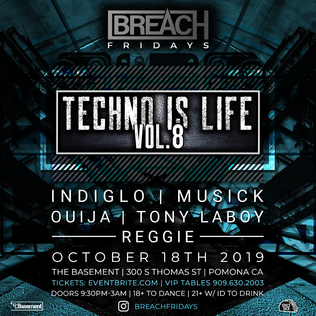 Breach Nightclub Branding, Stage Visuals, and Social Media Content Creation