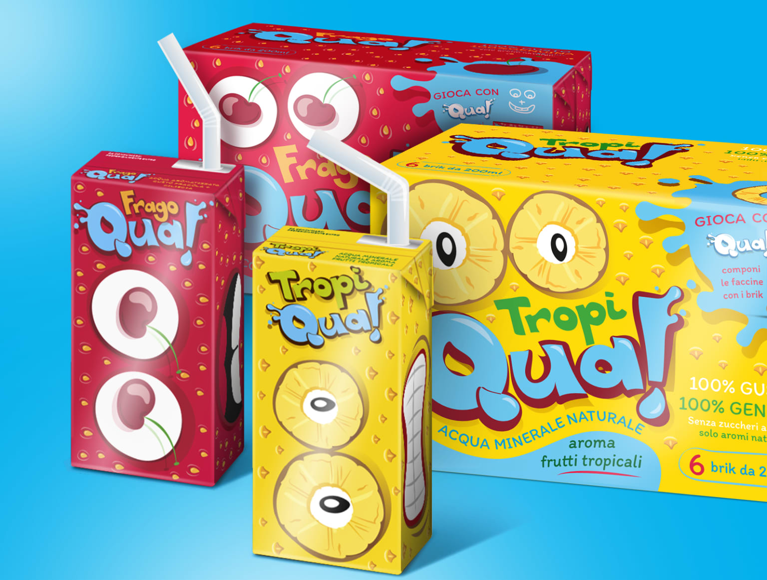 A-QUA Flavored Water Brand & Packaging