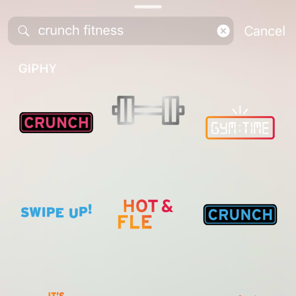 Crunch Fitness X GIPHY