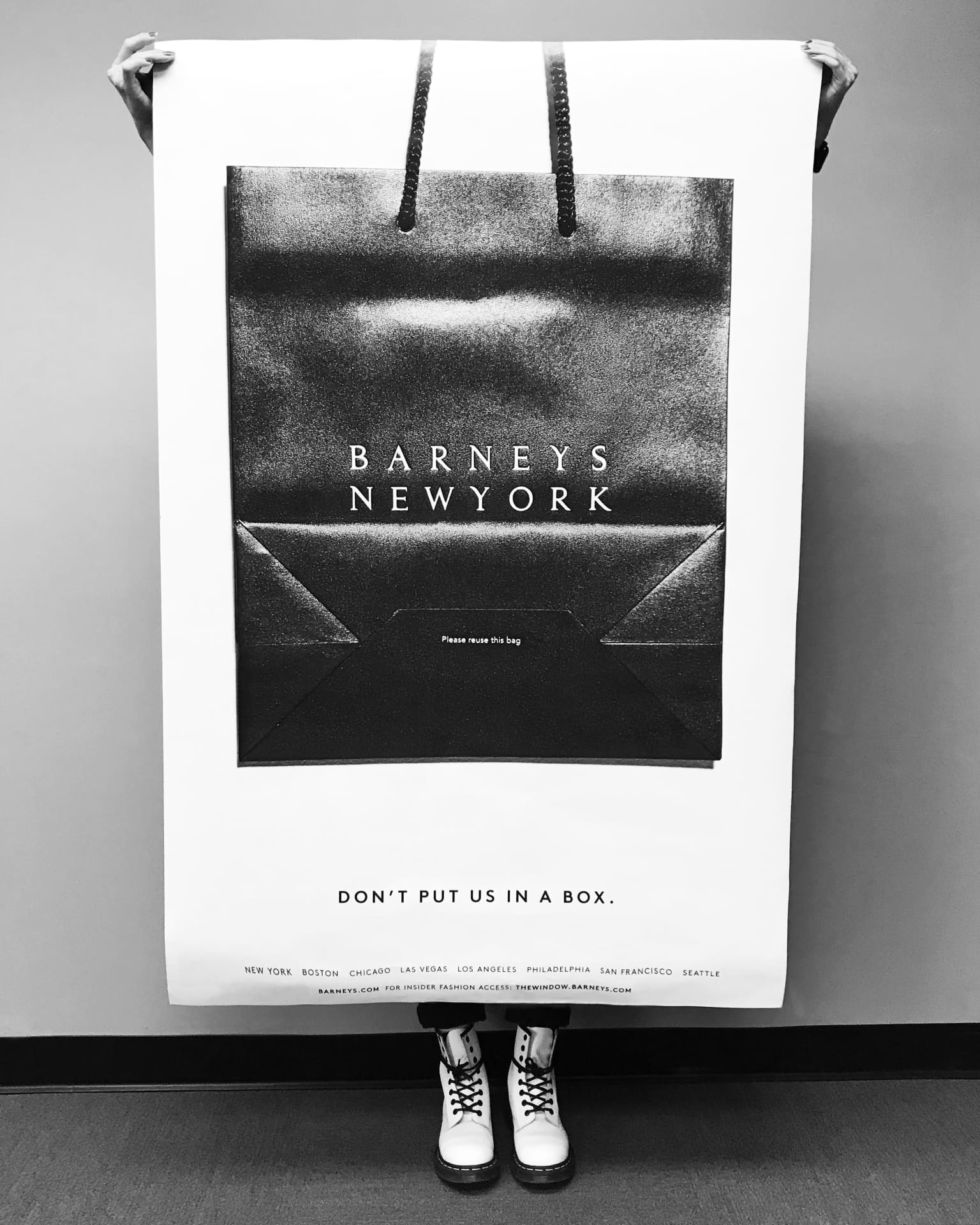 "Barneys New York ""Don't put us In a box"" Advertising Campaign"