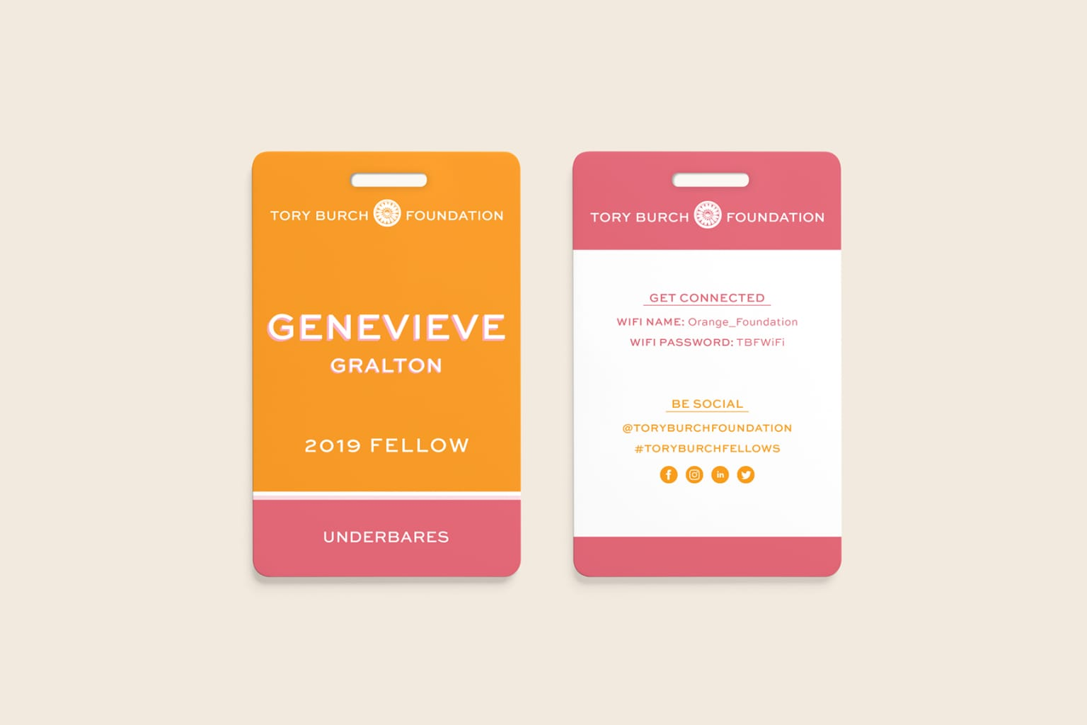 Tory Burch Fellows | Event Branding