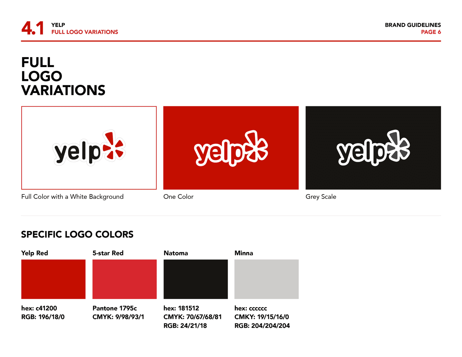 Yelp Brand Guidelines