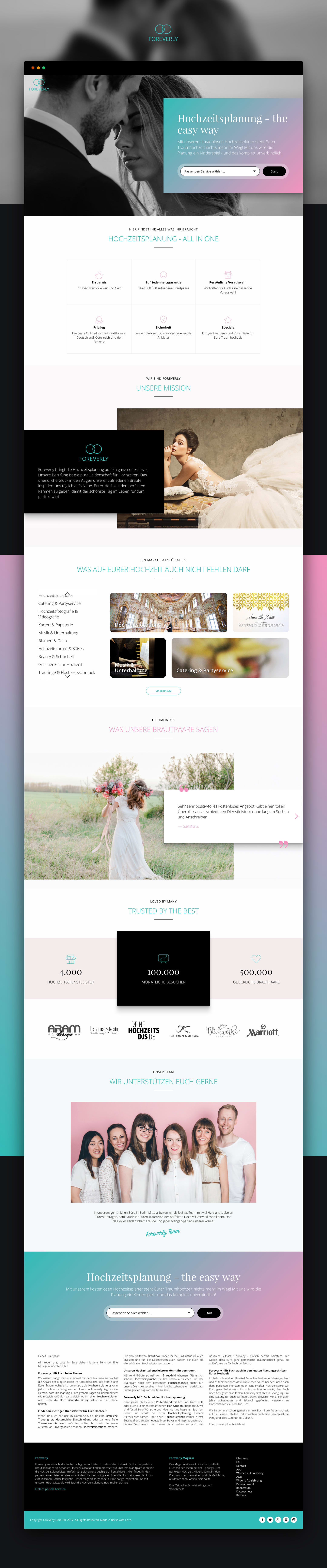 Foreverly Landing Page