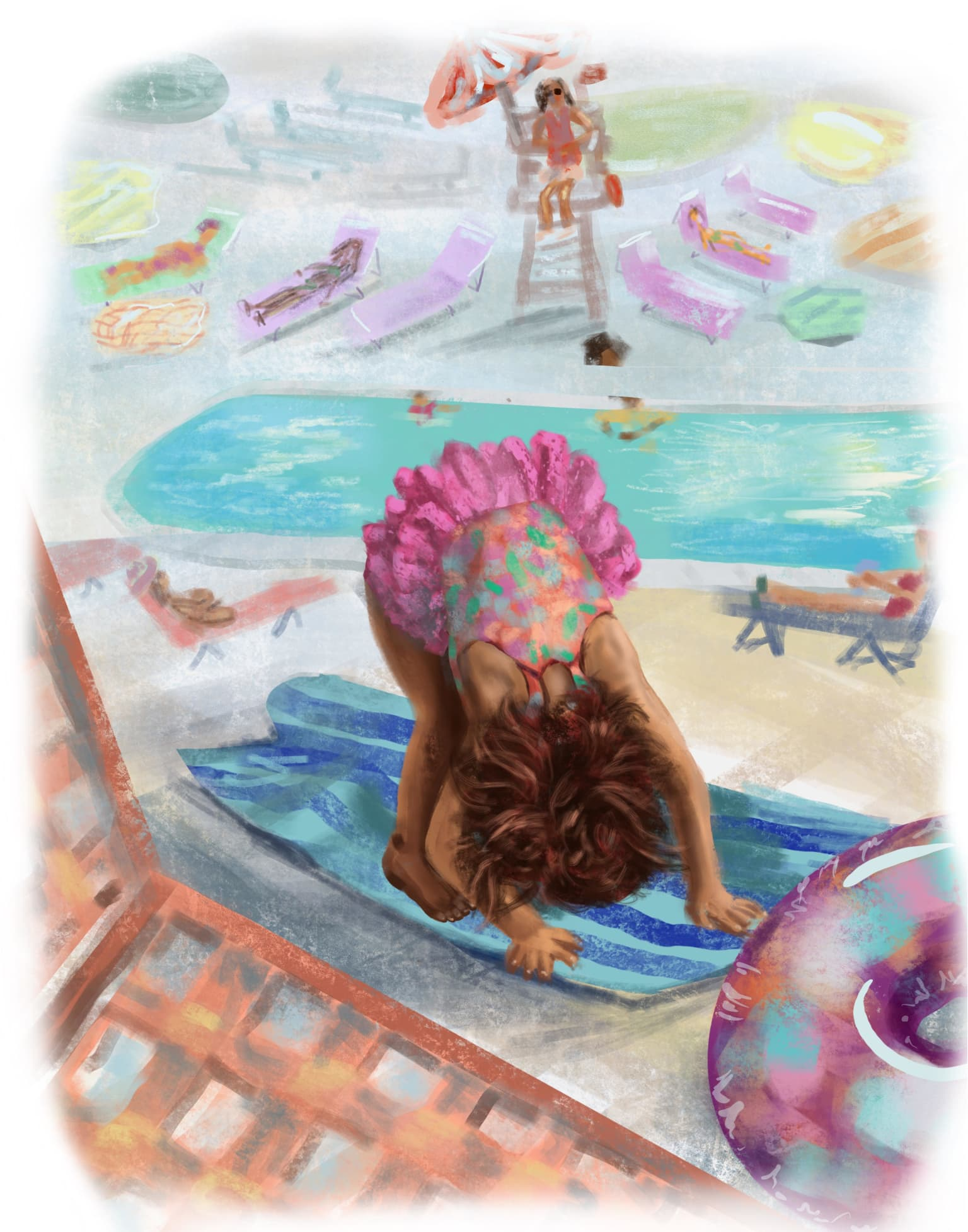 Yoga by the Water - Illustration
