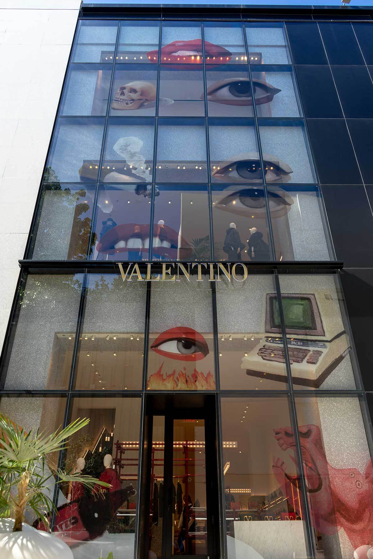 Valentino - Miami Design District Art Basel event window