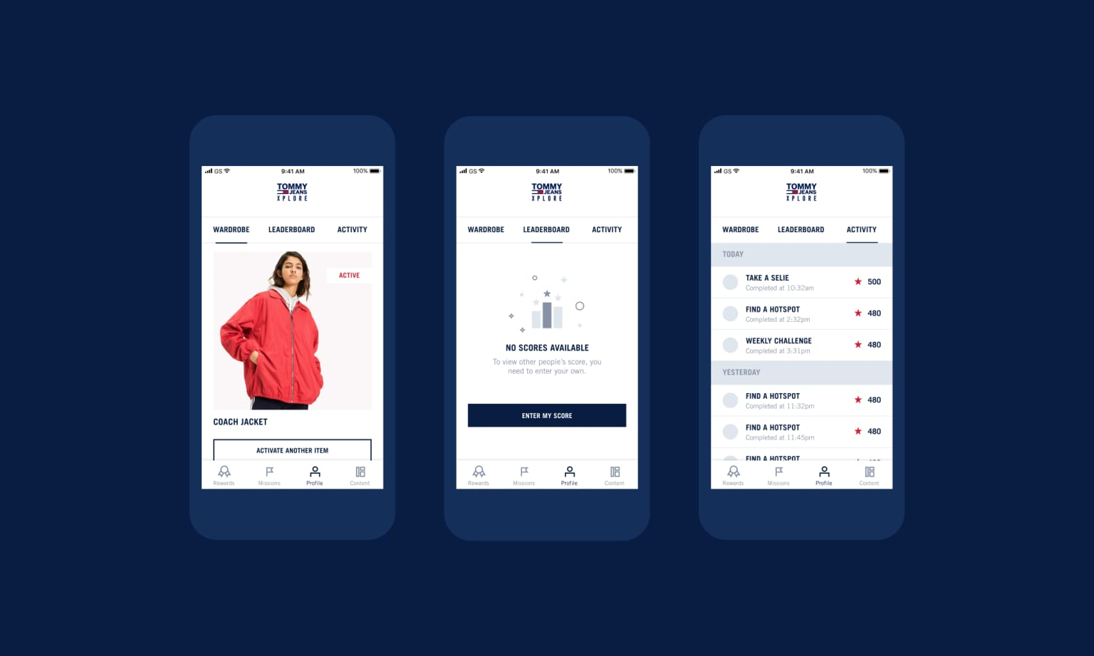 Tommy Hilfiger: Tommy Xplore - connected wearables app
