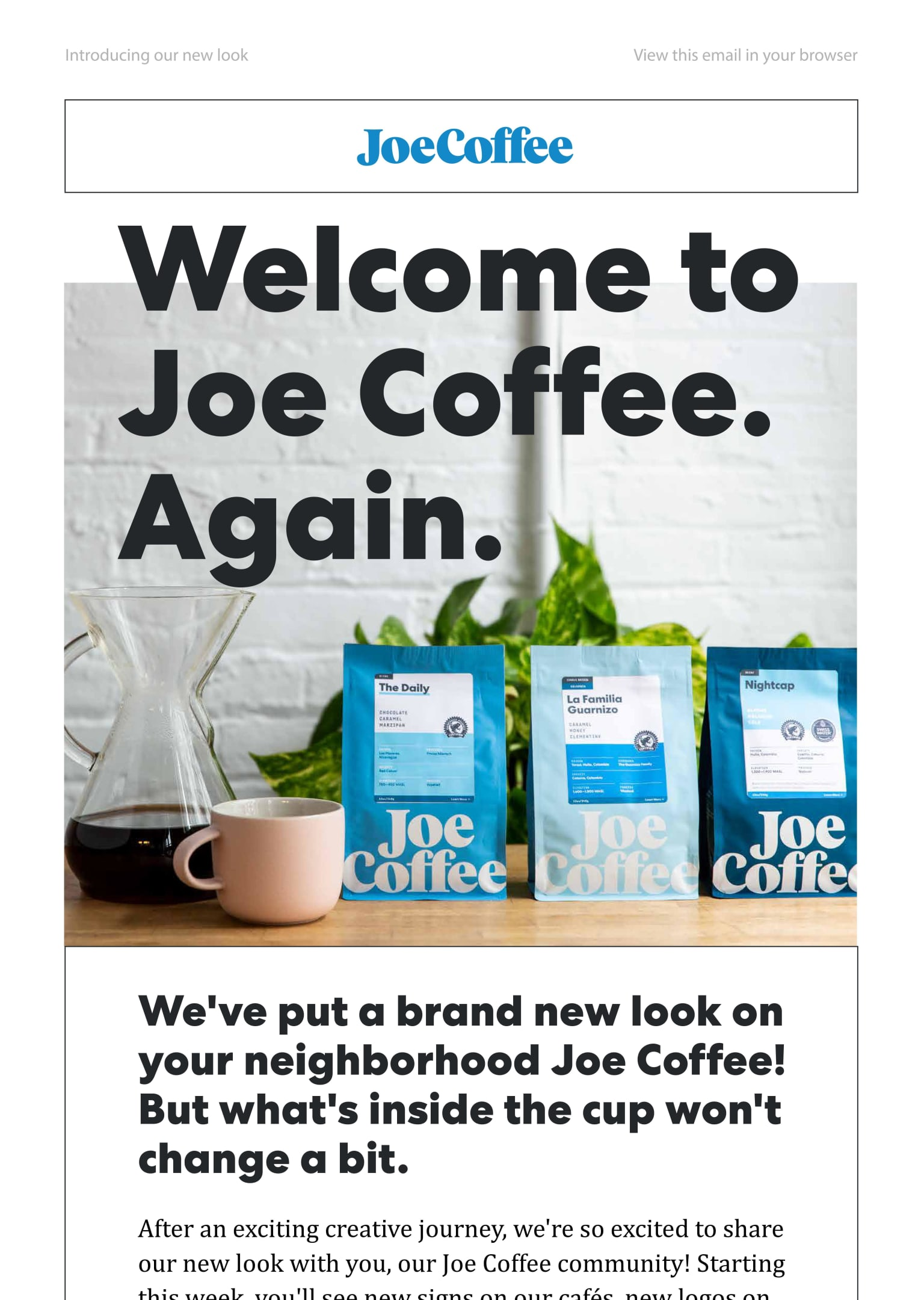 Joe Coffee Company – New Brand Identity Launch