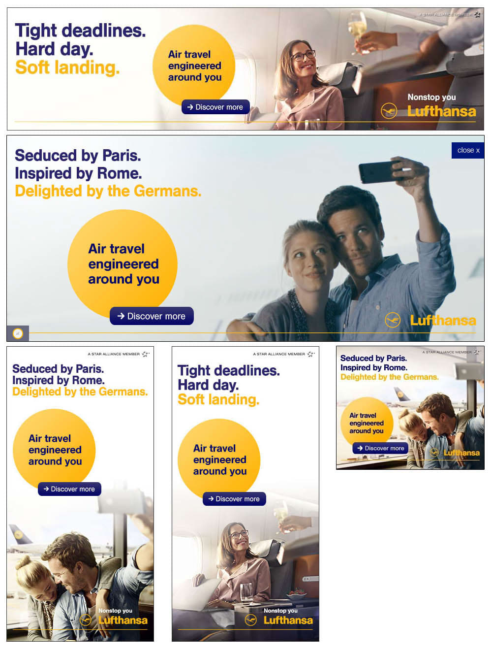 "Lufthansa ""Nonstop You"" ad campaign"
