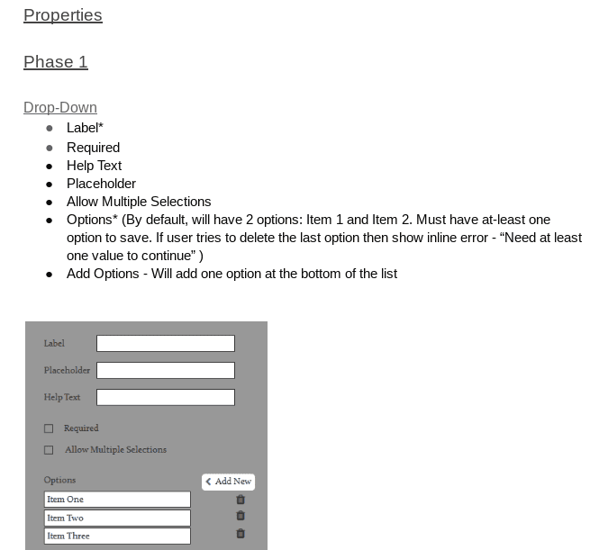 MAD-learn: Form Builder