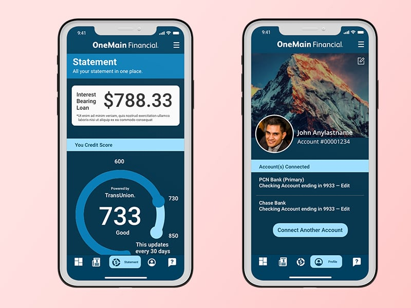 financial app - redesign