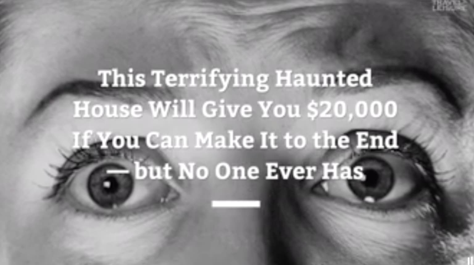 Haunted house offers $20,000 to anyone who can finish it