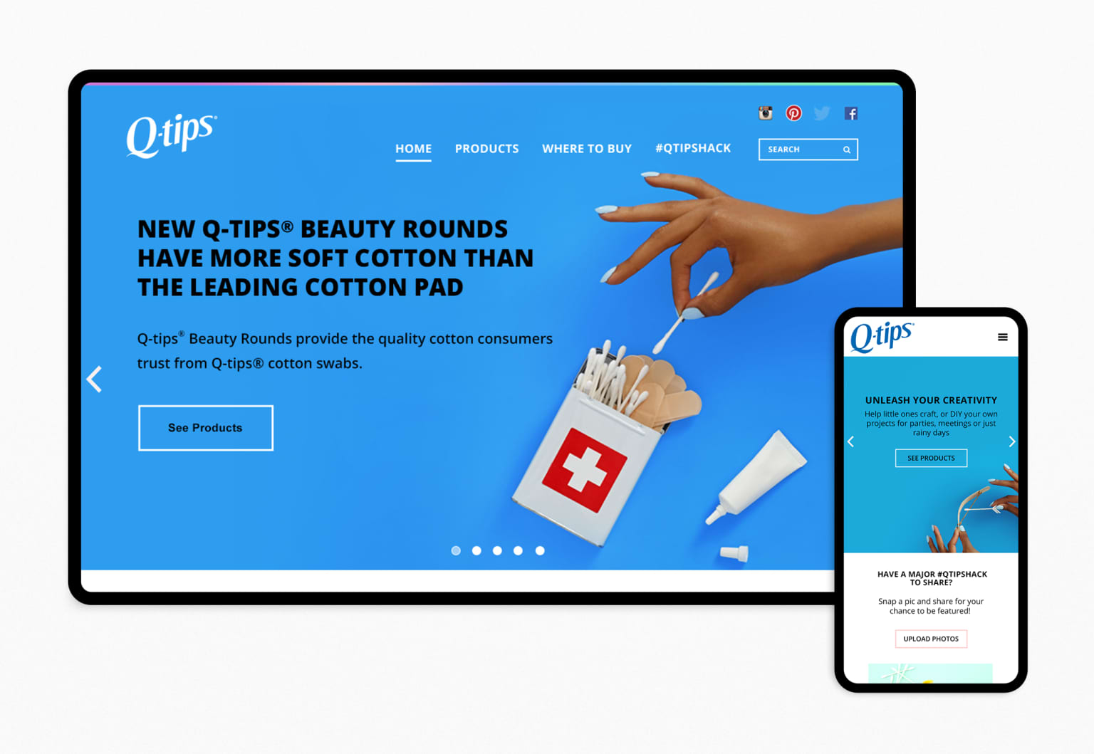 Q-Tips Website Research