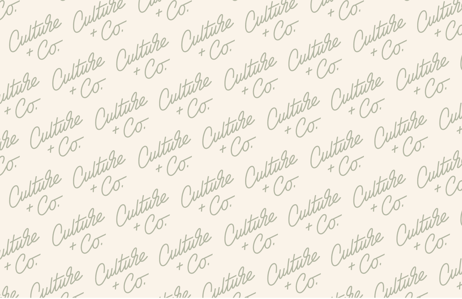 Culture + Co. Brand Identity + Packaging Design