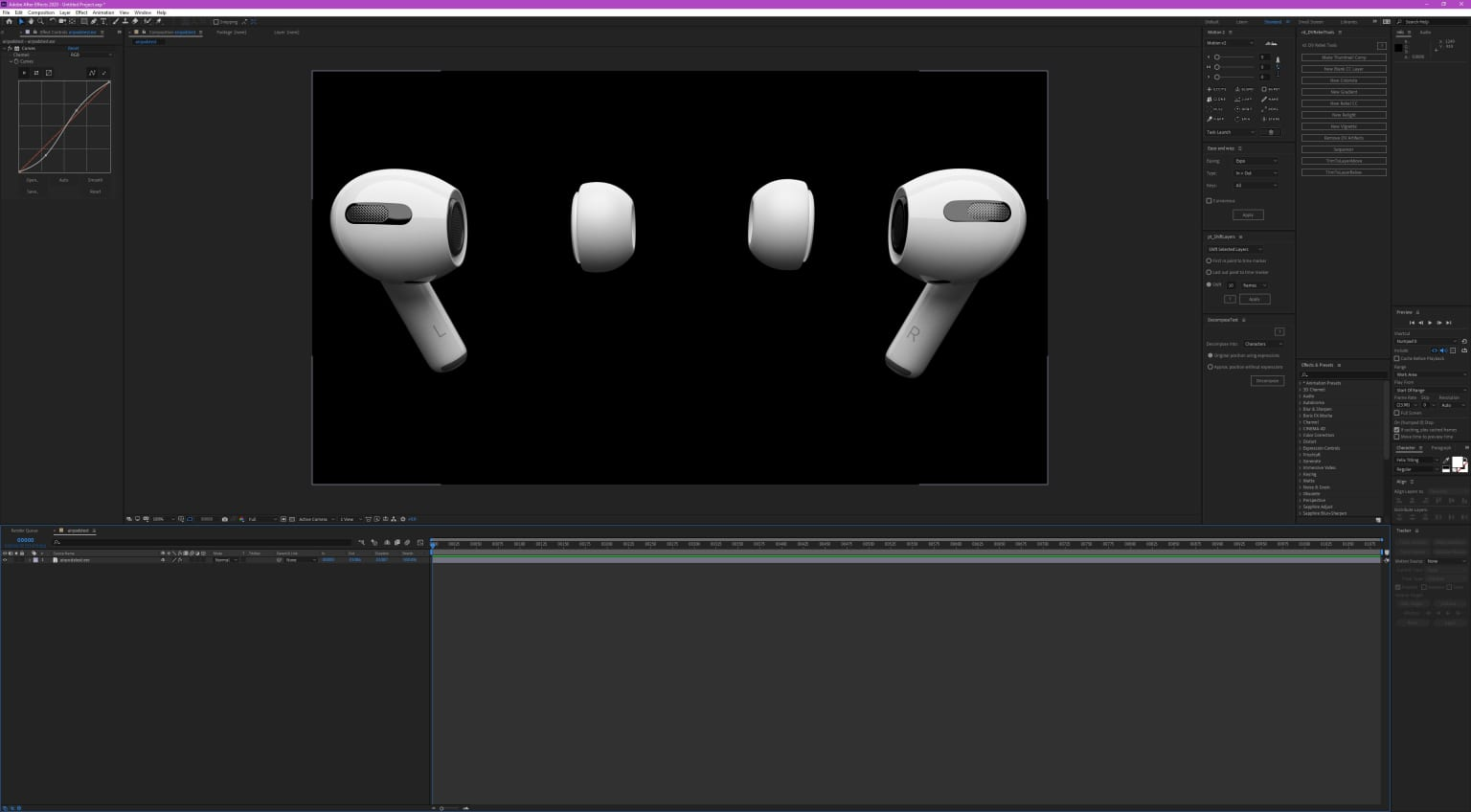 """Apple Airpods 3D Product Rendering Animation / Editing, Motion Graphics, and Color Grading Promo """"Innovation"""" by Paul Del Vecchio New York NYC"""
