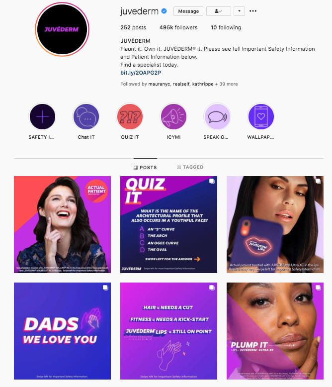 Botox Cosmetics and Juvederm Social Media Strategy and Content Creation
