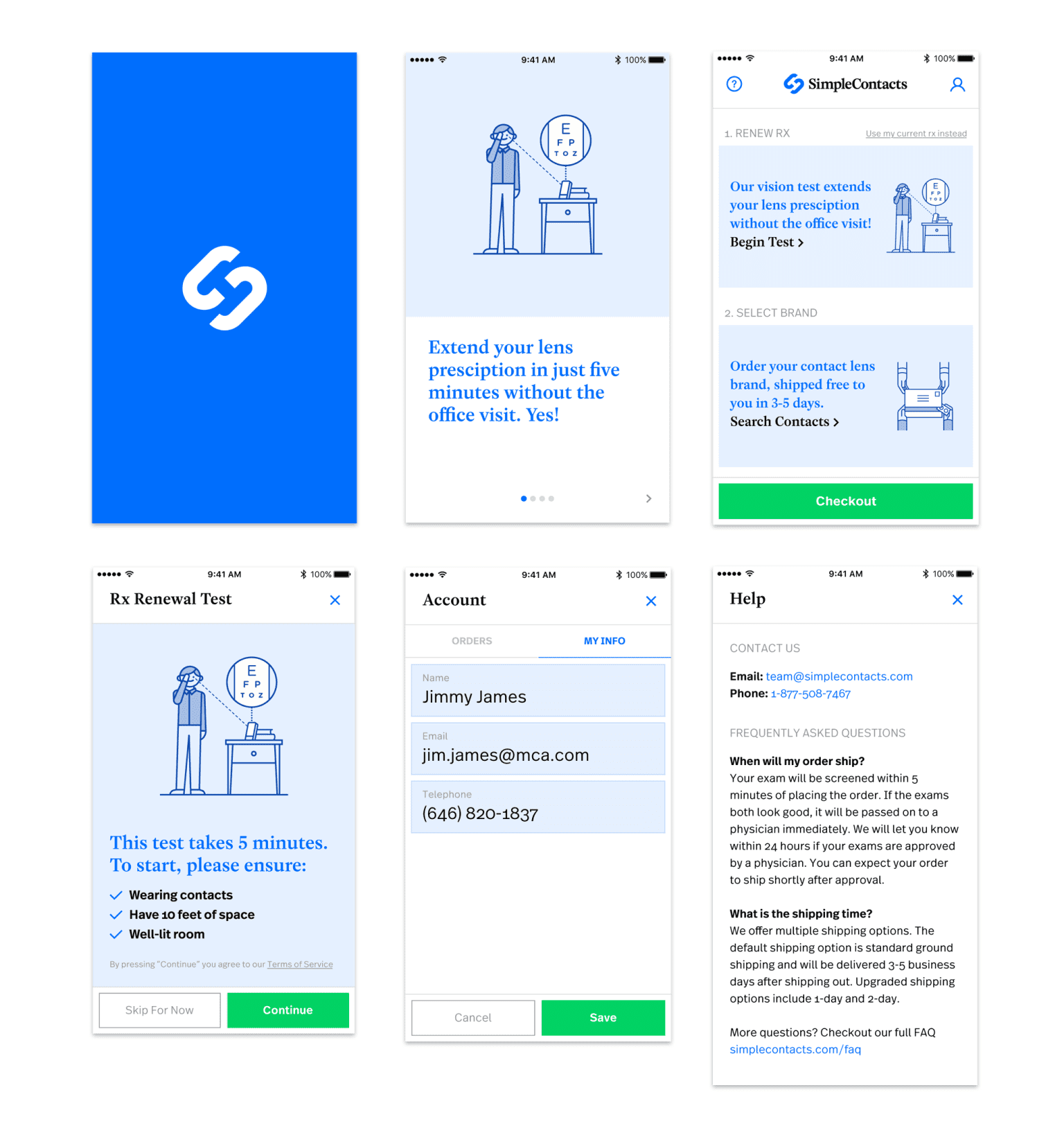 Simple Contacts: web, branding, and iOS app