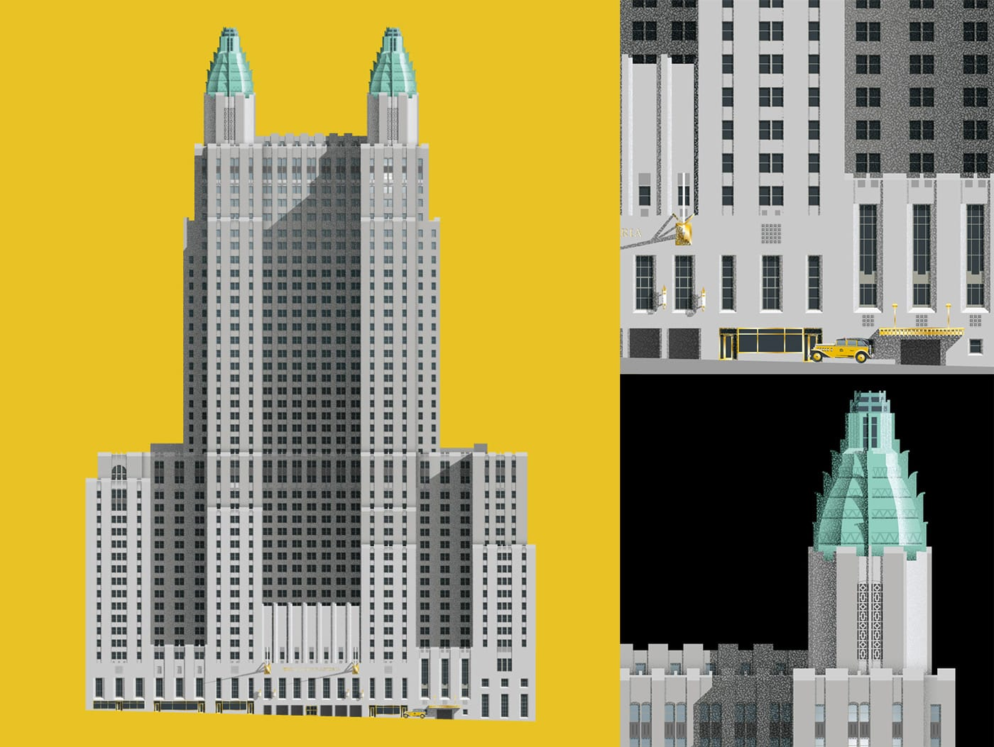 New York Architecture illustrations