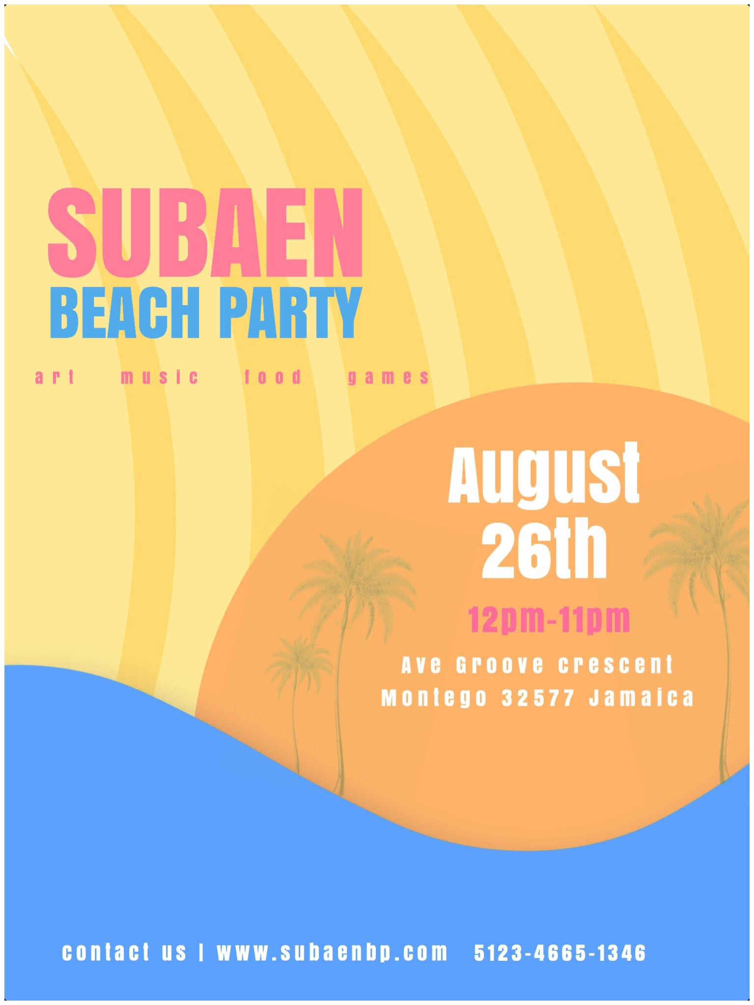 Beach party poster | sample
