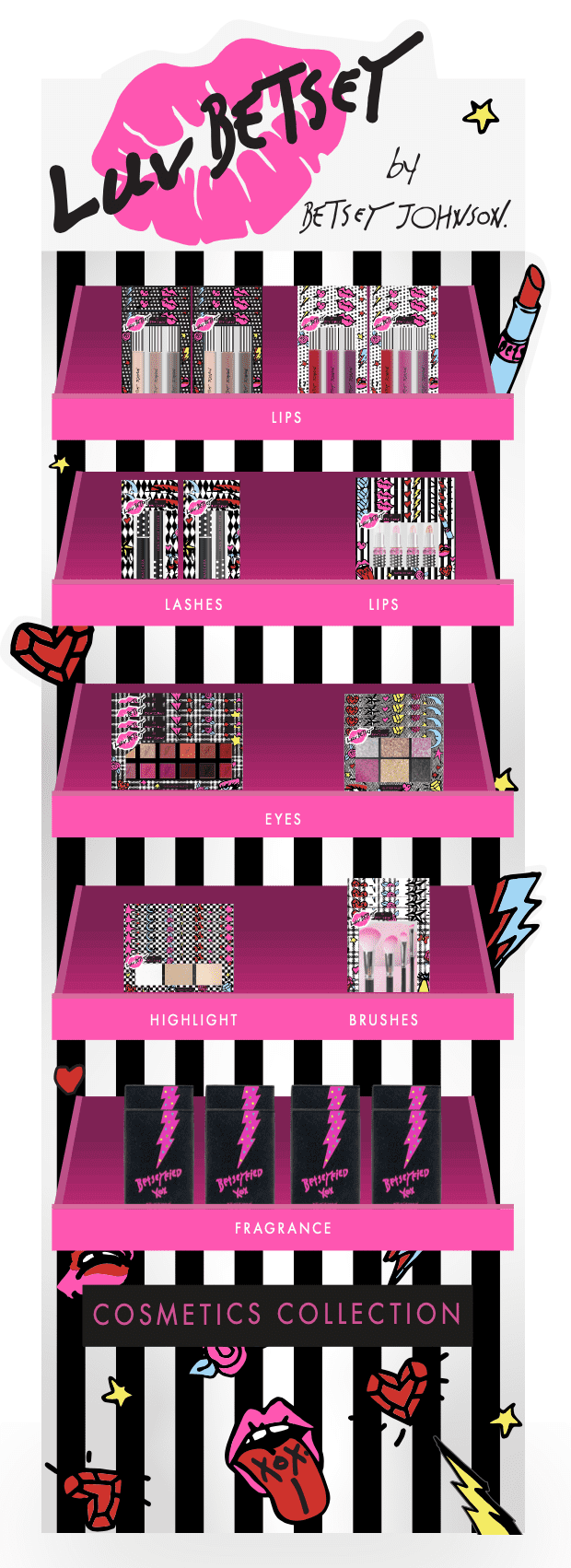LUV BETSEY BY BETSEY JOHNSON COSMETICS COLLECTION