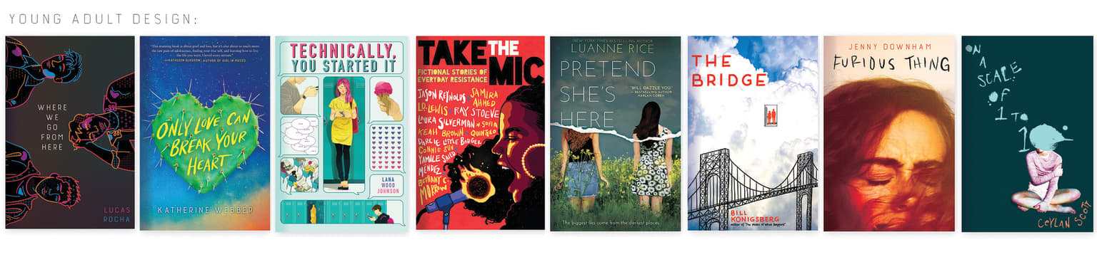 Middle Grade and Young Adult book covers, 2016-2020
