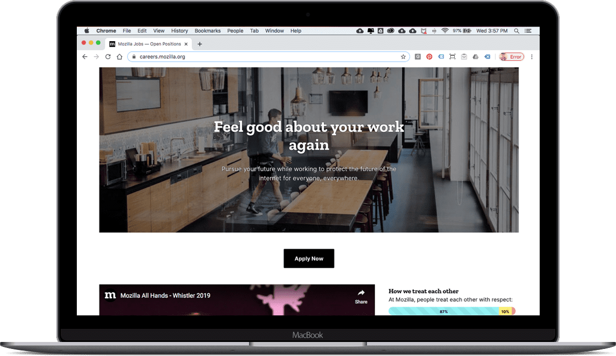 Mozilla Careers Page