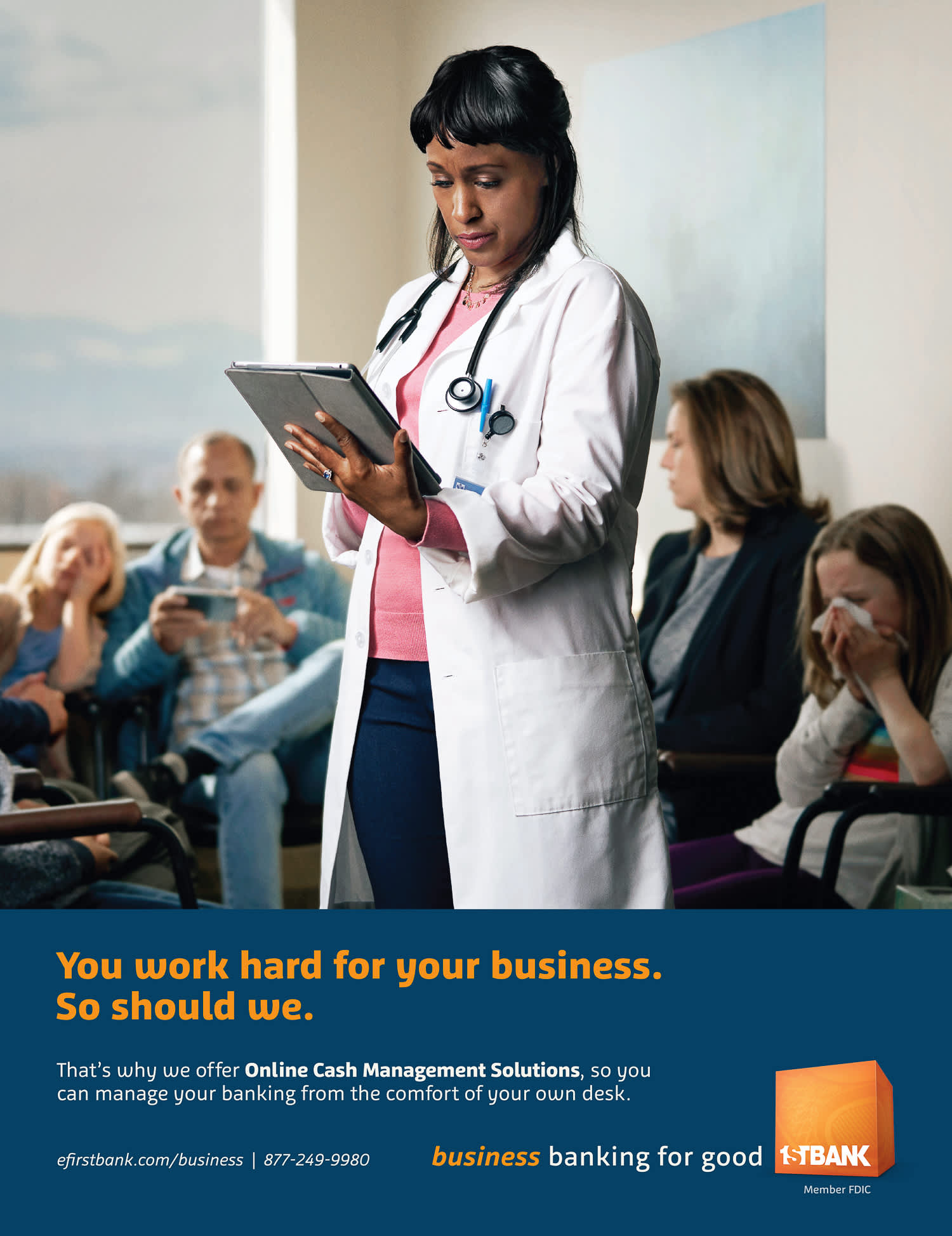 FirstBank 'You Work Hard' Print Campaign